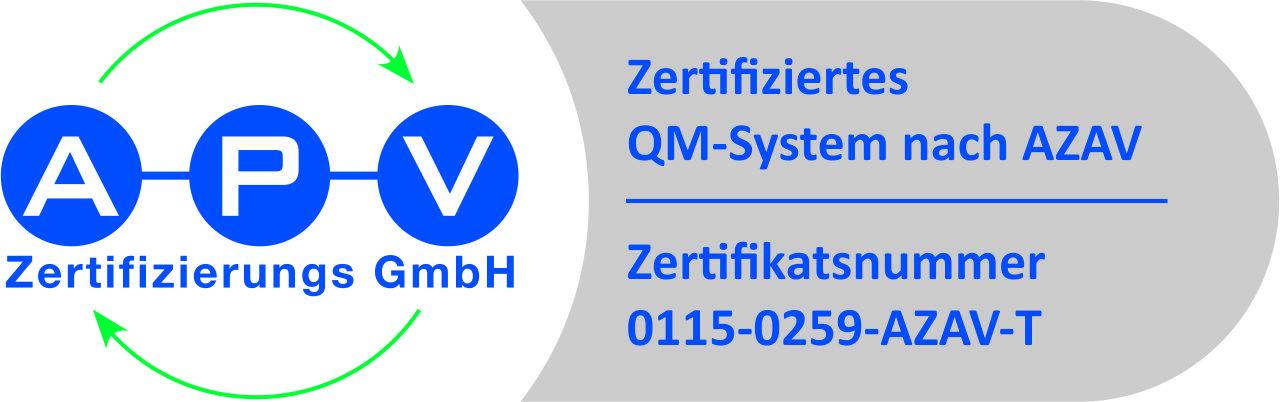 APV Zertifikat